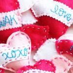 Hand-Stitched Felt Heart Sachets
