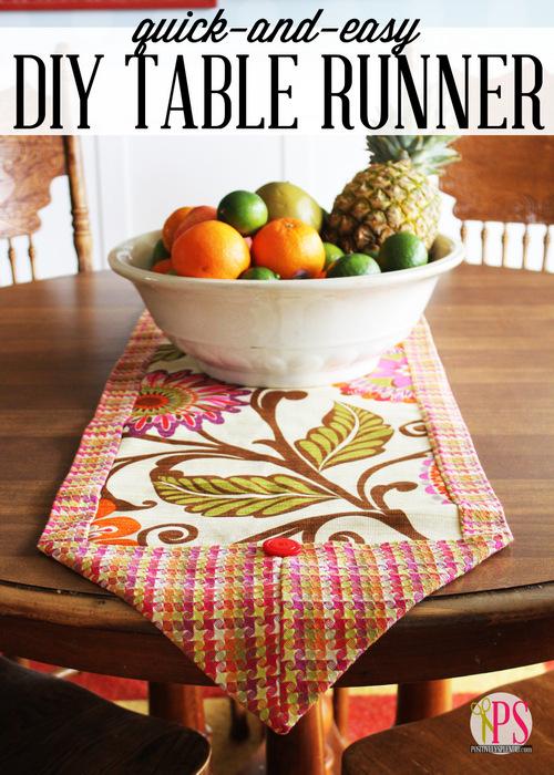 Quick-and-Easy DIY Table Runner :: PositivelySplendid.com