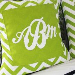 Custom Monogram Pillow Covers (Marine Vinyl Tips & Tricks)