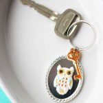 Owl Key Chain with Martha Stewart Jewelry