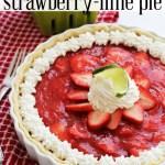 Fresh Strawberry-Lime Pie Recipe
