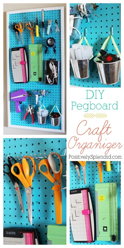 diy pegboard craft room organizer