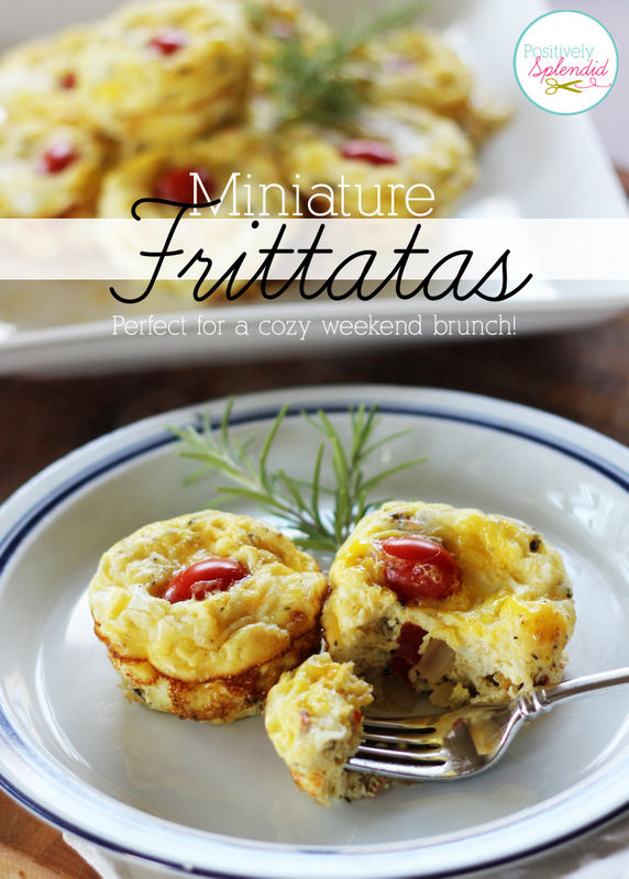 These miniature frittatas at Positively Splendid are so easy to make, and they would be perfect for weekend brunch or even a quick weeknight supper!