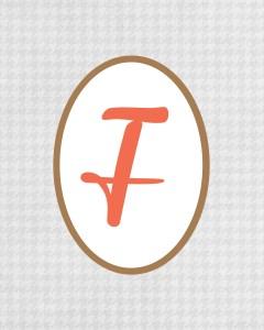Grey Monogram F