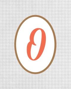 Grey Monogram O