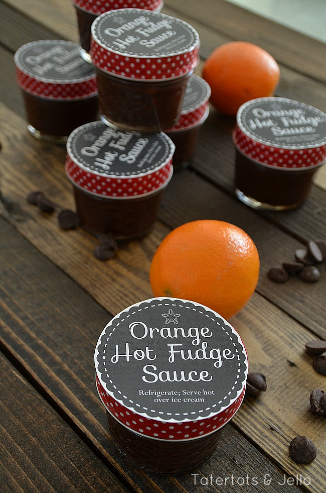 Orange Hot Fudge Sauce Recipe with Free Printable Gift Tags