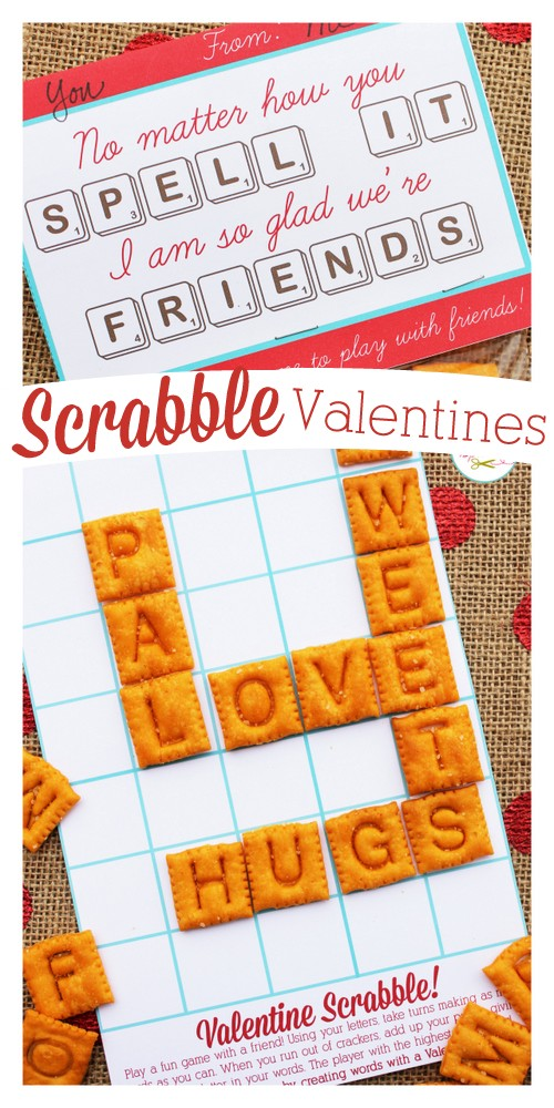 Edible Scrabble Valentines with Free Printables - recipe card