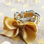 5-Minute Chain Link and Ribbon Bracelet