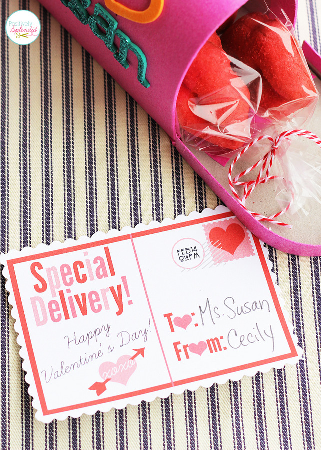 Valentine Goodie Mailbox with Free Postcard Printable