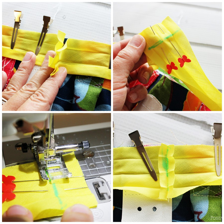 How to sew bias tape without that bulky, ugly overlapped edge. This is great information!