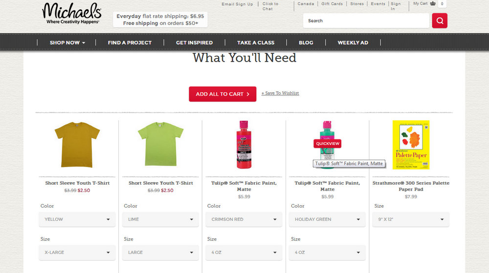 Michaels online shopping #MichaelsMakers