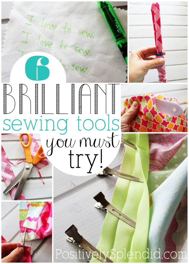 This list of sewing tools is full of handy gadgets that make sewing SO much easier! Can't wait to try them all!