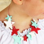 Glow-in-the-Dark Patriotic Star Necklaces #TheBigBling