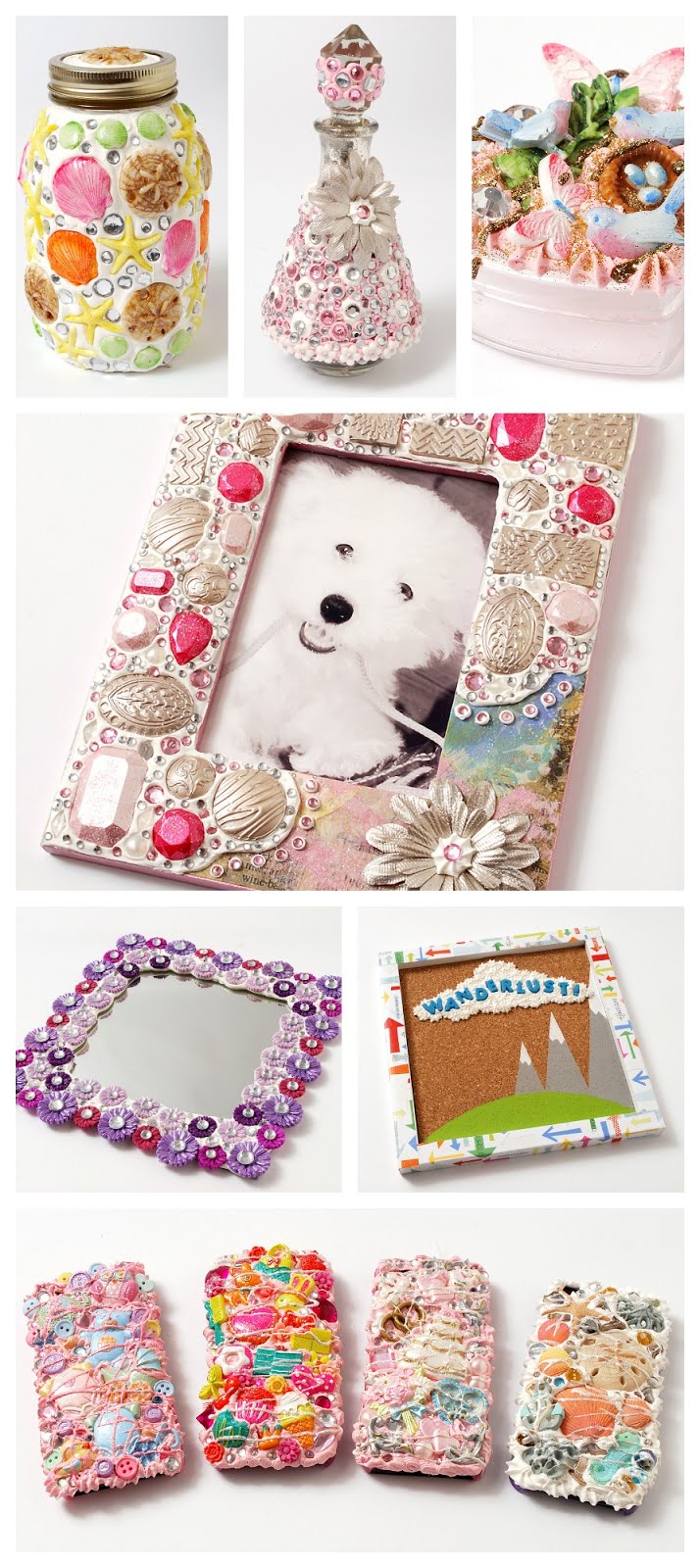 Mod Podge Collage Clay Decoden
