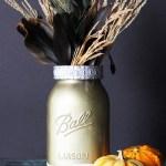 Metallic Mason Jar Vase