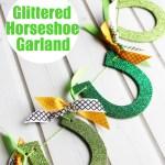 Glittered Horseshoe Garland