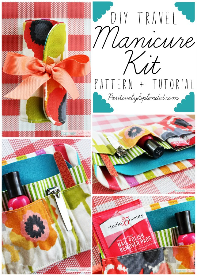 Travel Manicure Kit Sewing Pattern and Tutorial by Positively Splendid