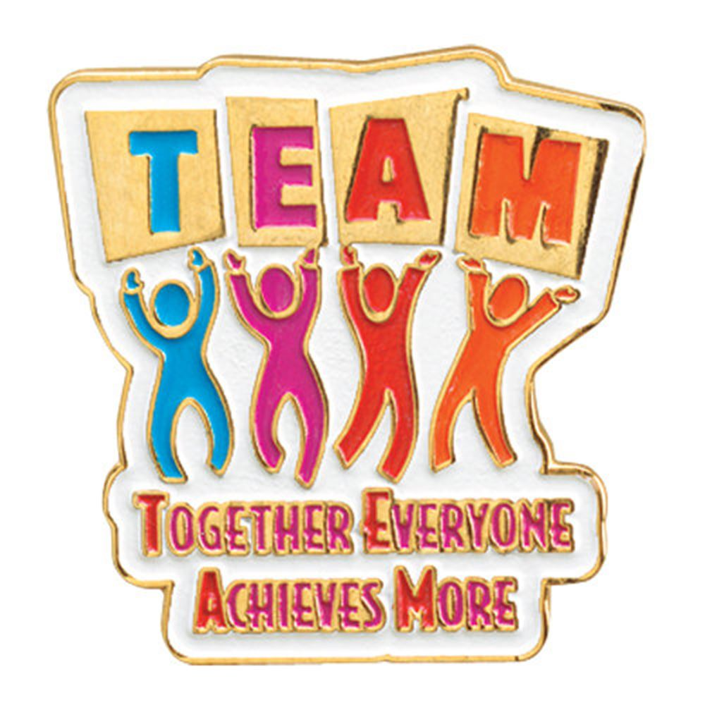 Achieve Quotes Wallpaper Team Together Everyone Achieves More Lapel Pin With Card