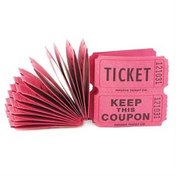 100 ct Pink Paper Raffle Tickets Positive Promotions