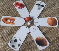 Positive Spin - Sports Theme Ceiling Fan