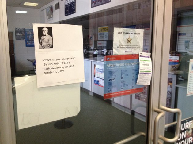 USPS disavows notice claiming PO closed for Gen Robert E Lee