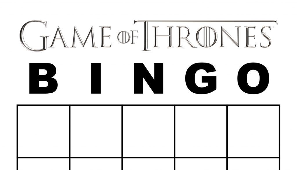 Game of Thrones Season 7 Bingo \u2013 Printable Party Game