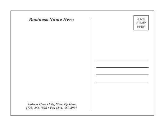 Doc680461 Free Postcard Template Download Blank Postcard – Word Postcard Template Free