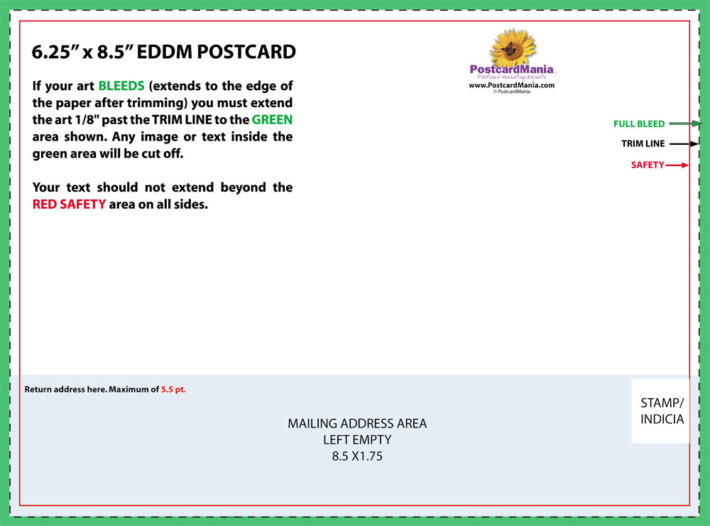 Postcard Design and Mailing Free Templates 4×6; 5×7; 6×11 Standard
