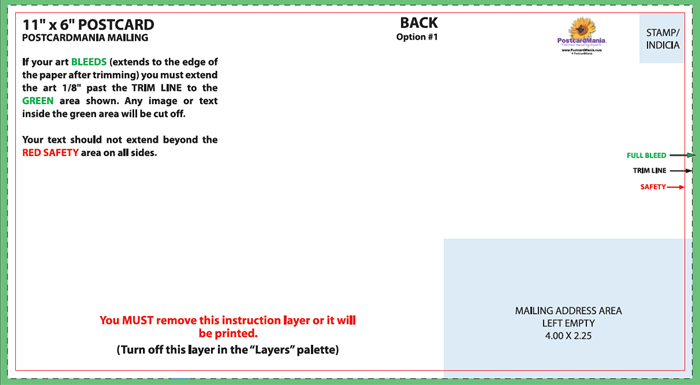Postcard Design and Mailing Free Templates 4×6; 5×7; 6×11 Standard - tri fold mailer template