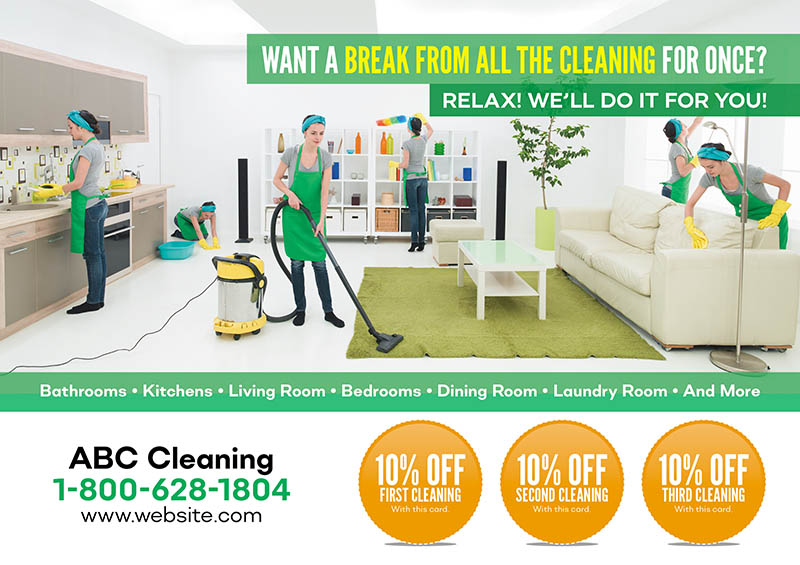 21 Brilliant Cleaning Services/Maid  Janitorial Direct Mail