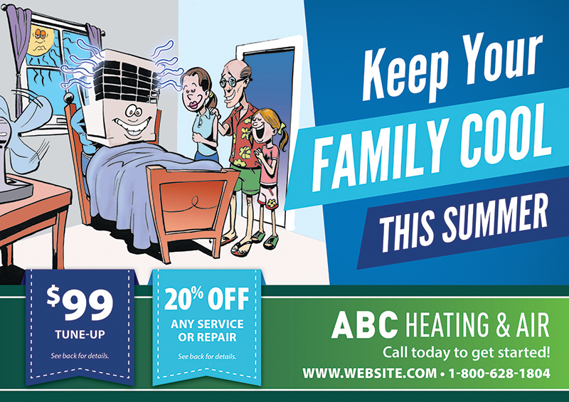 24 Brilliant HVAC Advertising  Marketing Direct Mail Postcard Examples