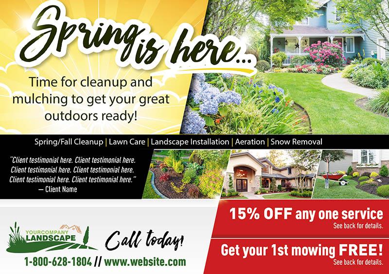 Proven Landscape and Lawn Care Marketing PostcardMania