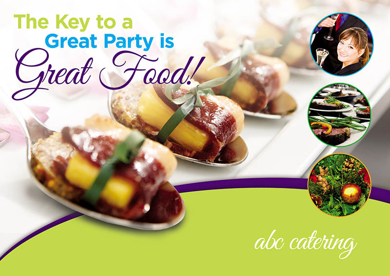 3 Brilliant Catering Postcard Marketing/Direct Mail Examples