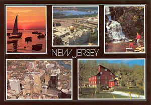 New Jersey Multi-View Postcard