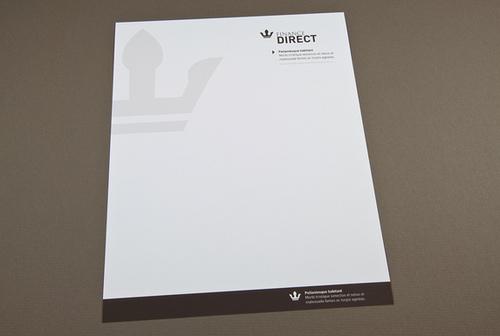 Letterhead Design for Corporate Print PostcardsRUs - professional letterhead