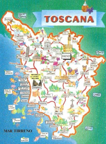 Tourist map of Tuscany
