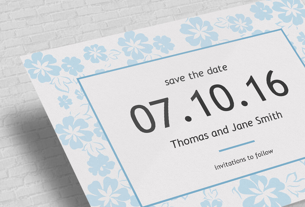 Custom Save The Date Cards Printed, Online Design Editor