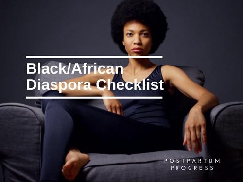 Black/AfricanDiaspora Checklist