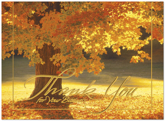 Business Thanksgiving Cards Radiant Thank You 9520U-AA