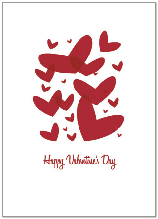 Floating Valentines Card Business Valentine\u0027s Day Card Posty Cards