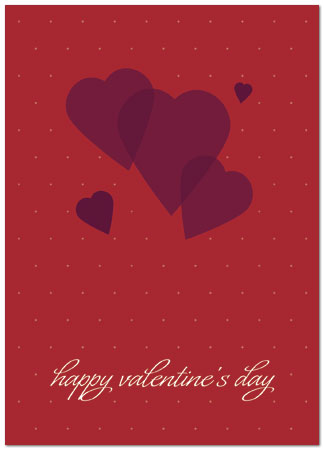 Graphic Hearts Card Business Valentine\u0027s Day Cards Posty Cards