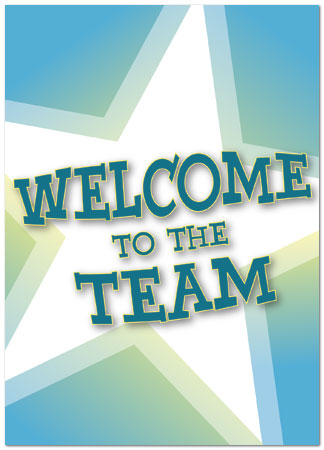 Welcome to the Team Card Employee Welcome Cards Posty Cards - welcoming messages for new employees