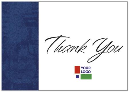 Navy Logo Thank You Card Custom Thank You Cards Posty Cards
