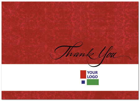 Red Logo Thank You Card Custom Business Thank You Card Posty Cards