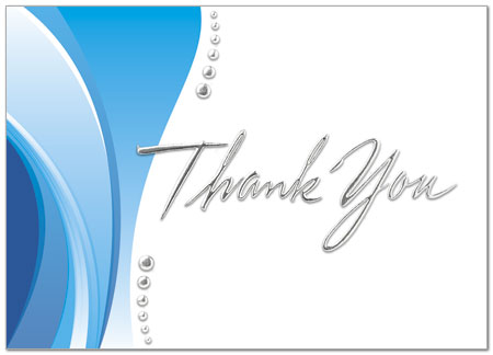 Thank You Wave Card Business Thank You Cards Posty Cards, Inc