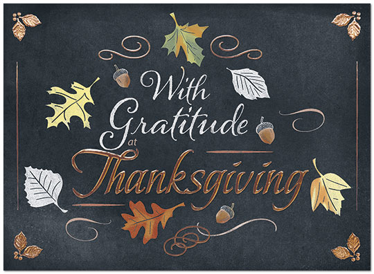 Thanksgiving Gratitude Card Business Thanksgiving Cards Posty Cards