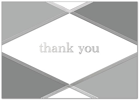 Argyle Thank You Card Business Thank You Cards Posty Cards