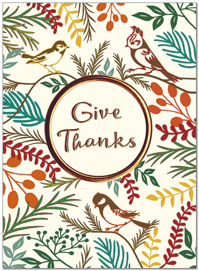 Nature Thanks Card Business Thanksgiving Cards Posty Cards