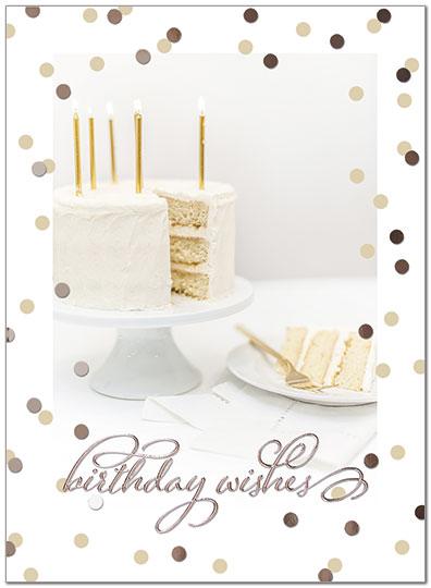 Elegant Cake Birthday Card Business Birthday Cards Posty Cards