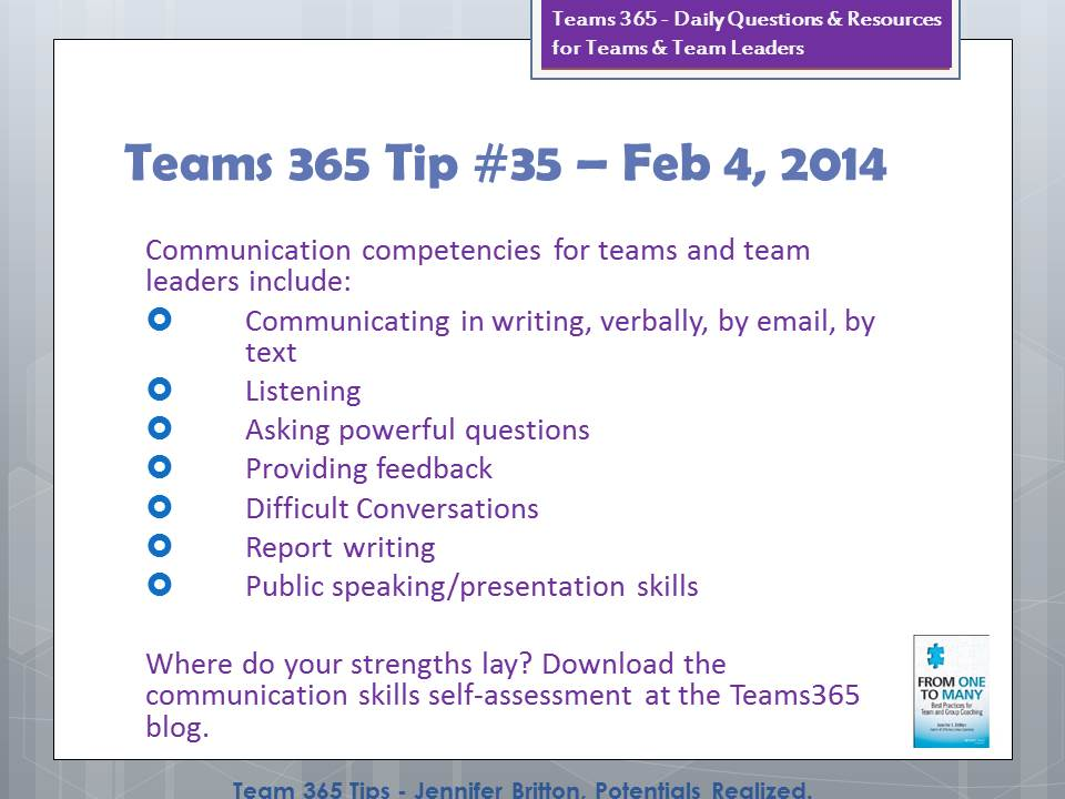 Teams365 Blog - Potentials Realized - leadership self assessment